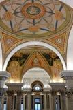 Bibliotheek van de details van het Congresplafond Stock Foto