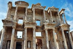 Bibliotheek van de Stad van Ephesus de Oude Royalty-vrije Stock Afbeelding
