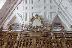 Bibliotheek van het Nationale Paleis van Mafra Stock Foto's