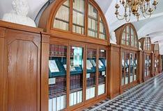 Bibliotheek van Nyasvizh-kasteel in Wit-Rusland royalty-vrije stock fotografie
