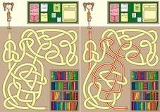 Bibliotheeklabyrint stock illustratie