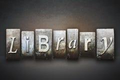 Bibliotheekletterzetsel Stock Afbeeldingen