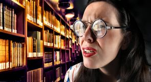 Bibliothek Stockbild