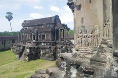 Bibliothek in Angkor Wat stockfotografie