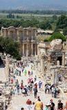 Bibliothek bei Ephesus Stockfoto