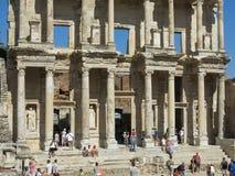 Bibliothek in der altgriechischen Stadt der Griff Lizenzfreies Stockfoto