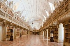 Bibliothek im nationalen Palast Mafra, Portugal lizenzfreies stockfoto