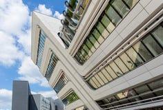 Bibliothek und Ausbildungszentrum der Universität von Wirtschaft Wien, Österreich Stockfotografie