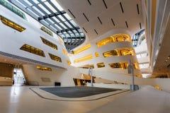 Bibliothek und Ausbildungszentrum der Universität von Wirtschaft Wien, Österreich Lizenzfreies Stockfoto