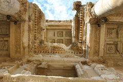 Bibliothek von Celsus Stockbild