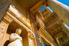 Bibliothek von Celsus Stockfotos