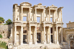Bibliothek von Celsus Stockfoto