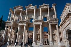 Bibliothek von Celsus bei Ephesus, die Türkei Lizenzfreies Stockfoto