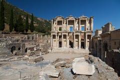 Bibliothek von Celsus in Ephesus Stockfotografie