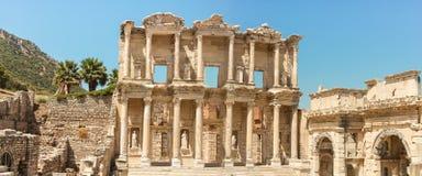 Bibliothek von Celsus, Ephesus, Anatolien Stockbild
