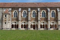 Bibliothek von Citeaux-Abtei Stockfotos
