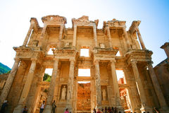 Bibliothek von Ephesus Stockfotos