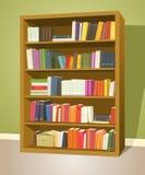 Bibliotheks-Bücherregal Stockbild