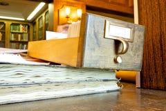 Bibliotheks-Forschung Lizenzfreies Stockbild