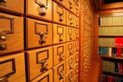 Bibliotheks-Katalog Lizenzfreies Stockbild