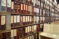 Bibliotheksarchiv Stockbild
