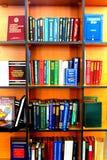 Bibliotheksbestandinventarbücher gelesen stockfotografie