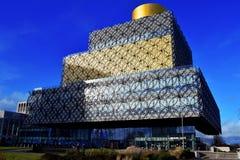 Bibliotheksgebäude in Birmingham-Stadt Stockbilder