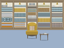 Bibliotheksinnenraum 1 vektor abbildung