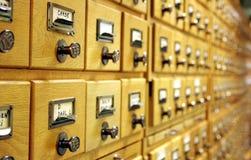 Bibliothekskatalog Lizenzfreie Stockbilder