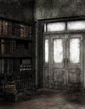 Bibliothèque abandonnée Photographie stock libre de droits