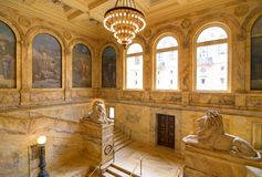 Bibliothèque publique de Boston Images stock