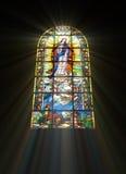 Biblisches Buntglas Lizenzfreie Stockbilder