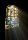 Biblisches Buntglas Lizenzfreies Stockfoto