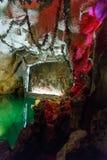 Biblisches Fresko auf der Wand der Grotte Stockbilder