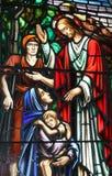bibliskt läka fönster Arkivfoto