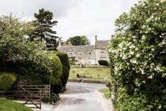 Bibury, cotswolds在英国 免版税图库摄影