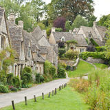 Bibury. Cotswold village of Bibury showing Arlington row  one of the prettiest villages in England Royalty Free Stock Photos