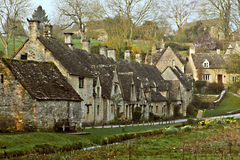 Arlington Row  Bibury Cotswolds Stock Photos