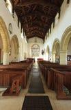 Biburyst Mary kerk op 21 September, 2014 in Engeland, het UK Royalty-vrije Stock Fotografie