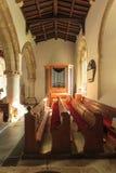 Biburyst Mary kerk op 21 September, 2014 in Engeland, het UK Stock Afbeelding