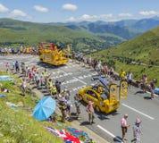 Bic-husvagn - Tour de France 2014 Arkivbild