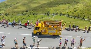 Bic-husvagn - Tour de France 2014 Arkivfoton