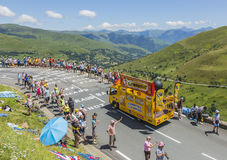 Bic-husvagn - Tour de France 2014 Royaltyfria Foton