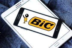 Bic logo. Logo of bic company on samsung mobile on samsung tablet stock image