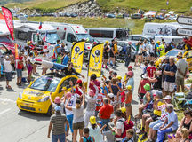 BIC Vehicle in Alps - Tour de France 2015 Stock Images