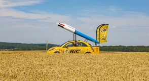 BIC Vehicle - Tour de France 2017 royalty free stock photo
