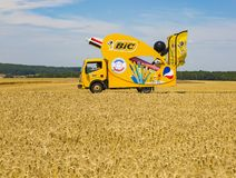 BIC Vehicle - Tour de France 2017 stock photos
