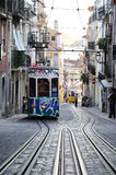 Lisbon Typical Cable Cars - Portugal Royalty Free Stock Photography