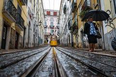 Bica di Elevador da a Lisbona Immagini Stock