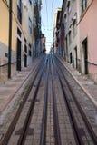 Bica funicolare a Lisbona Fotografia Stock Libera da Diritti
